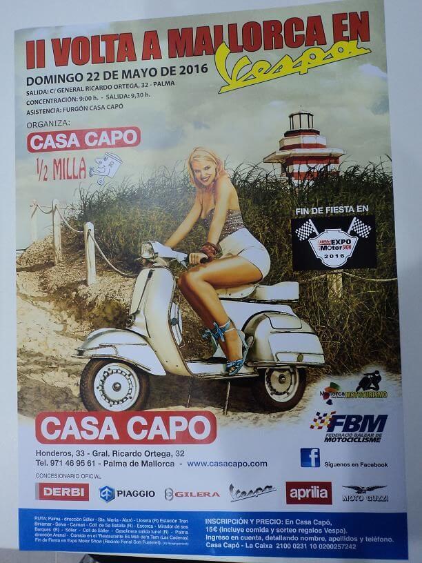 II VOLTA A MALLORCA EN VESPA 22/05/2016